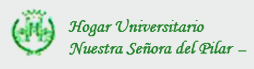 Hogar universitario nuestra señora del pilar logo